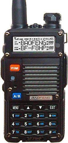 BaoFeng BF-F8HP - BaoFeng's Only TRI-POWER (1, 4, 8 Watt) (USA Warranty) Dual-Band 136-174/400-520 MHz FM Ham Two-way Radio, Transceiver, HT - With Battery, Antenna, Charger, and More BaoFeng http://www.amazon.com/dp/B00MAULSOK/ref=cm_sw_r_pi_dp_QIAJub1Y32FG7