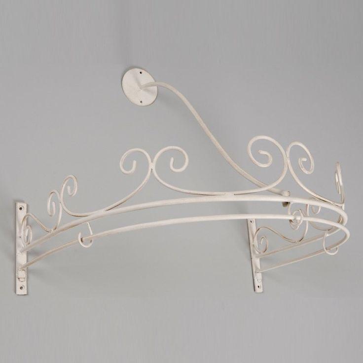 Cielo romantico, ideale complemento d'arredo per camere da letto in stile shabby o country chic. Struttura in metallo decapato. Cielo letto Cal...