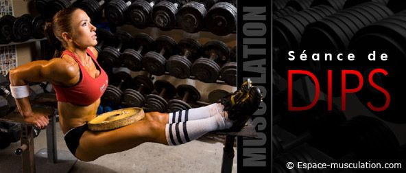 Séance de dips : programme de musculation pour se muscler les triceps et les pectoraux. #musculation #bodybuilding #fitness #sport