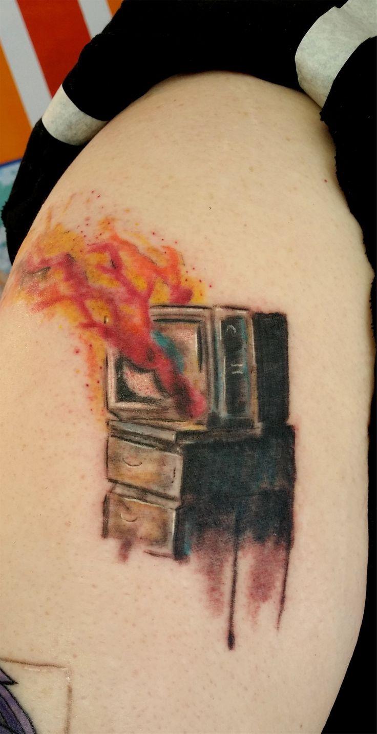 TV on fire