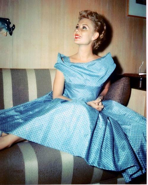 Mitzi Gaynor - love the neckline on that dress.