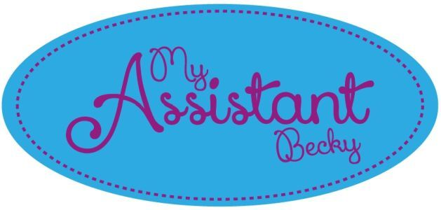 Website for My Assistant Becky, a company that helps small businesses save time and money.
