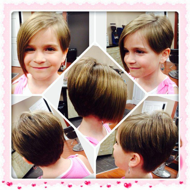 Kids Haircut Asymmetrical Edgy Bob Stylish Short My