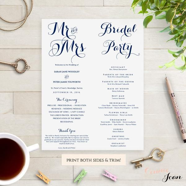 The 25+ best Order of service template ideas on Pinterest - wedding template