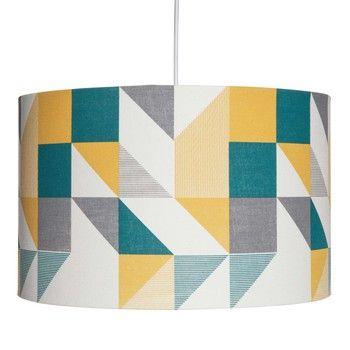 GRAFF pendant with multicoloured triangle motifs D 40 cm