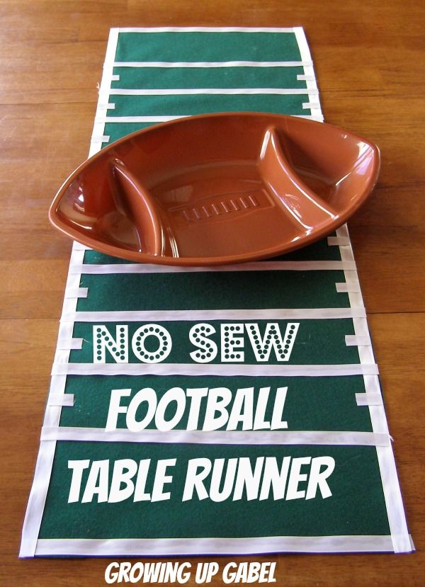 No Sew Football Field Table Runner - Growing Up Gabel