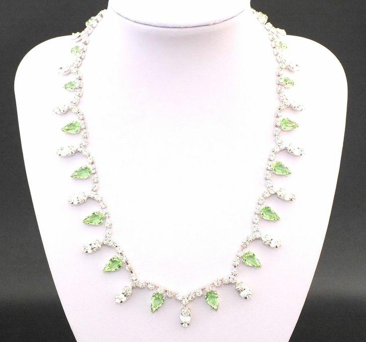 Strass Collier - Crystal/Peridot - 1A-Qualität aus Gablonz/Böhmen - sc242