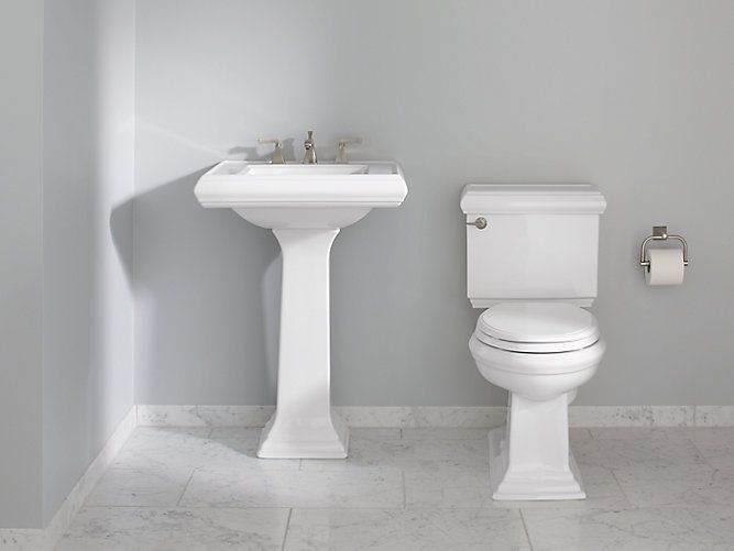 Classic Memoirs Pedestal Sink With Classic Design 8 Inch