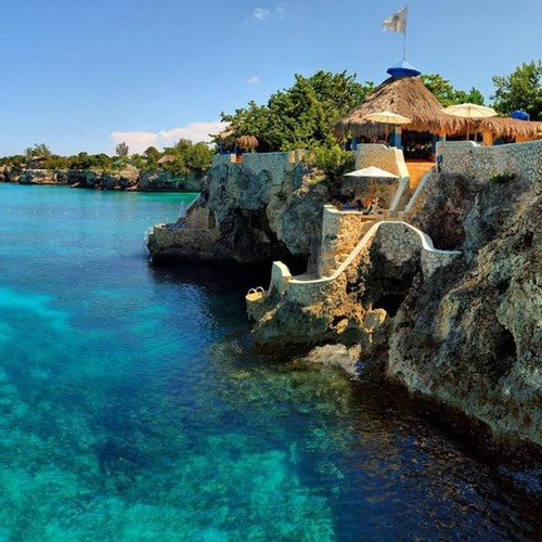 The Caves, Negril, Jamaica. Passed this on our catamaran cruise an I'd love to go back and stay there.