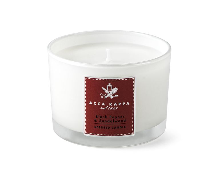 Acca Kappa hand made scented candles are perfect for any room in your home. Infuse your room with the sensual fragrance of black pepper and sandlewood.