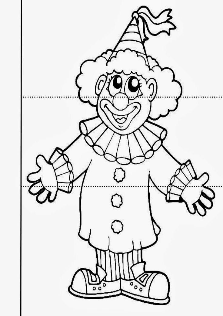 рисунок клоуна карандашом в полный рост