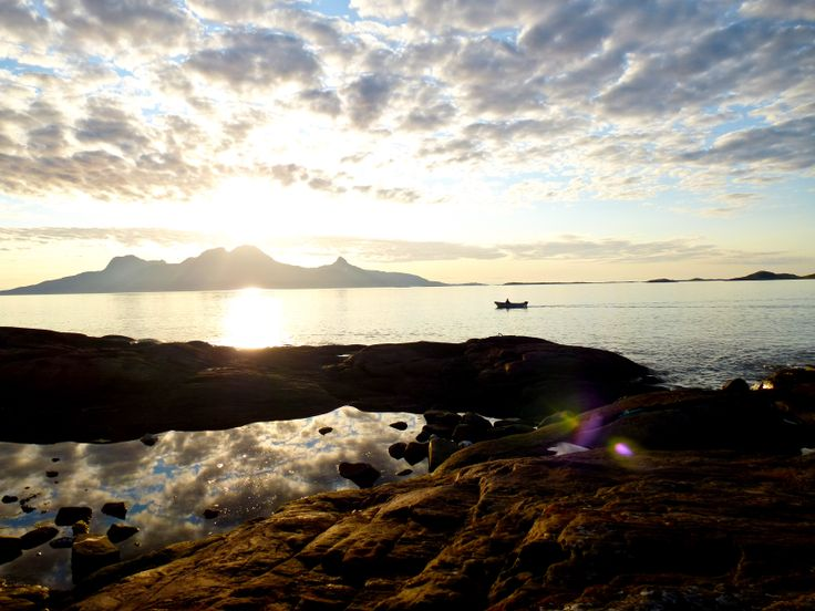 Magical sunset close to Bodö, starting Point for our women travel to the Lofoten Island´s.