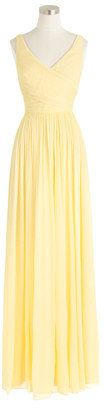 ADDITIONAL 25% OFF WITH CODE SHOPNOW AT JCREW Petite Heidi long dress in silk chiffon #petite #jcrew #yellow #bridesmaid #gown #dress #sale
