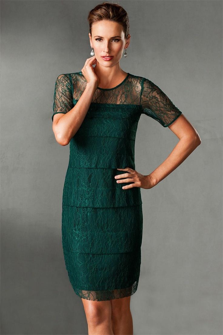 Dresses - Grace Hill Woman Layered Lace Shift - EziBuy New Zealand