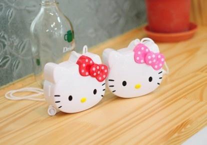 Portable Kitty Mini Fan Handhold Fan Summer Cooling Fan with String