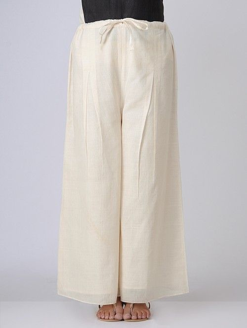 Ivory Elasticated waist Cotton Khadi Pants