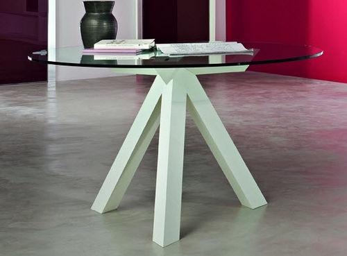 mesa redonda moderna de vidrio OAK MOVE