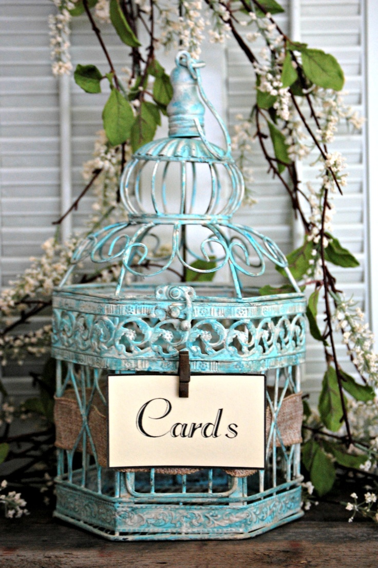 Shabby Chic, Rustic, Wedding Decor 18 Bird Cage Card ...