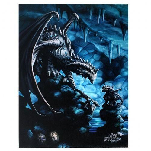 NEW Rock Dragon Picture by Anne Stokes 25 cm x 19 cm Gothic Age of Dragons Myth