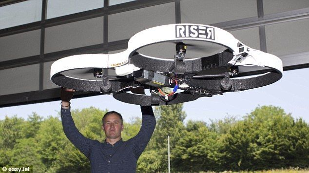 Introducing the new drone safety inspector for Easy Jet | Budget airline has used an automated drone to conduct safety inspections on one of its aircraft for the first time.
