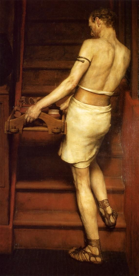 Sir Lawrence Alma-Tadema (Sir Lawrence Alma Tadema) (1836-1912) The Roman Potter Oil on canvas 1884
