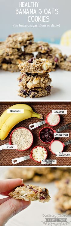 Quick, easy, healthy and delicious recipe using Bananas, Oatmeal and Almond milk.
