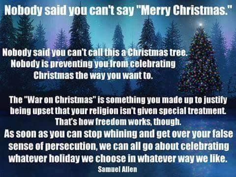 Christmas is also a secular holiday, but scarcely the only Winter Solstice celebration. Get over it.