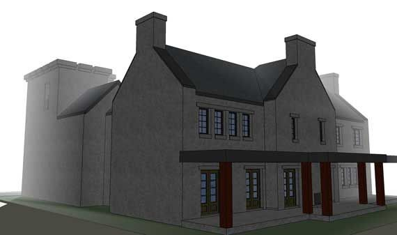 Scottish Castle House Plan With Tower 116 1010 5 Bedrms In 2020 Castle House Plans House Plans Castle House