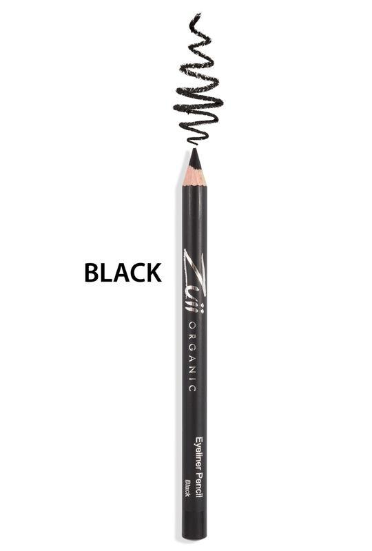 Zuii Organic - Mineralna kredka do oczu - Black [Czarna]