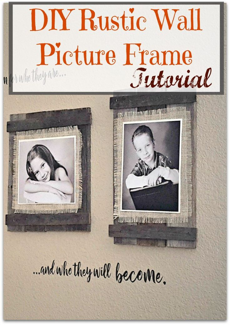 I love these easy and cheap DIY farmhouse frames!!  Check out the tutorial to make your own rustic picture frames.