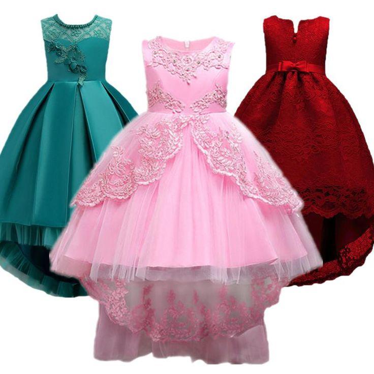 Bebé del cordón del niño vestido de flores niña para el banquete de boda vestido de primera comunión vestido formal de la muchacha 3-12 años niños tutu ropa