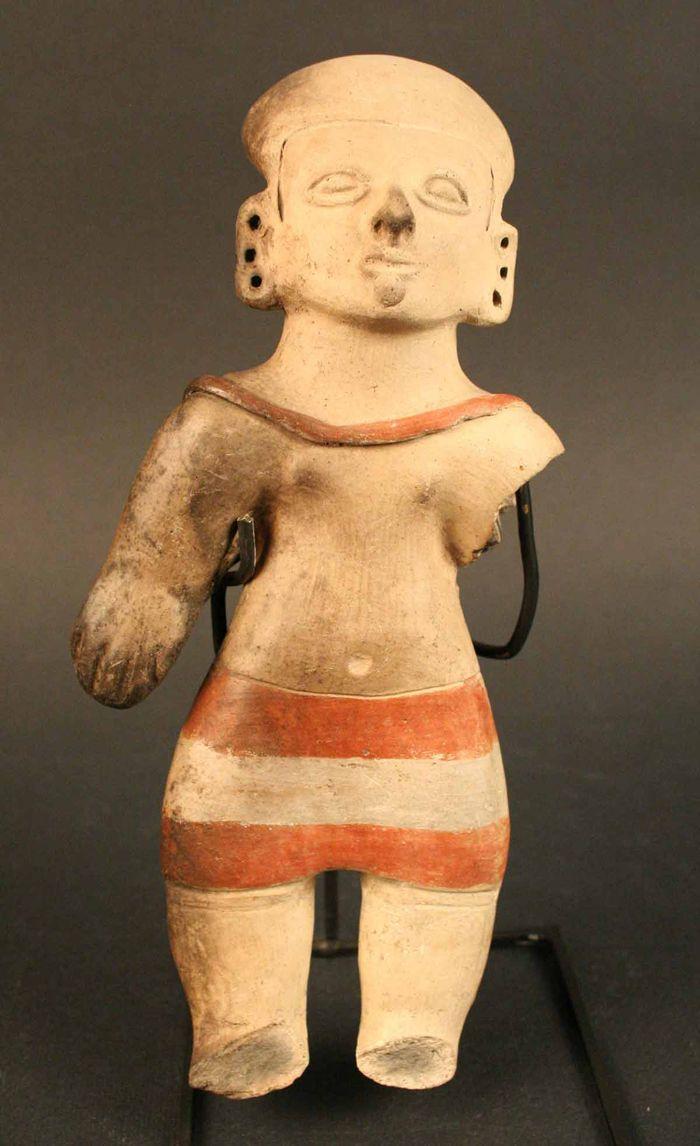 Ocarina antropomorfa femenina: mujer y niño – Museo Chileno de Arte Precolombino Museo Chileno de Arte Precolombino