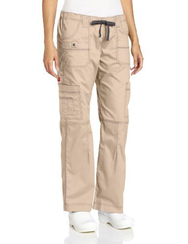 womens khaki cargo pants dickies scrubs s flex junior fit contrast stitch 30508