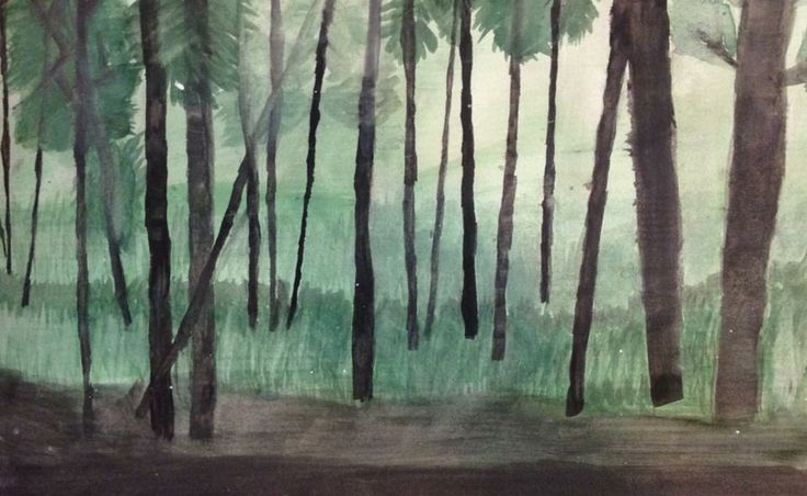 """Early Connor art  I call """"trees""""  He's a natural IMO  Beautiful"""