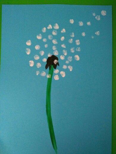 Dandelion made with fingerprints
