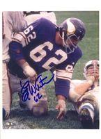 Autographed Ed White Minnesota Vikings 8x10 Photo