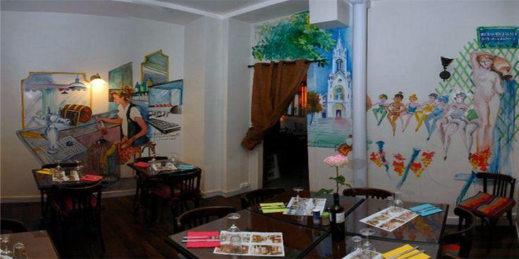Zondagse brunch bij Chez Luna, Rue Menilmontant 108 (75020 Parijs 20e) €19,- voor brunchbuffet a volonte.
