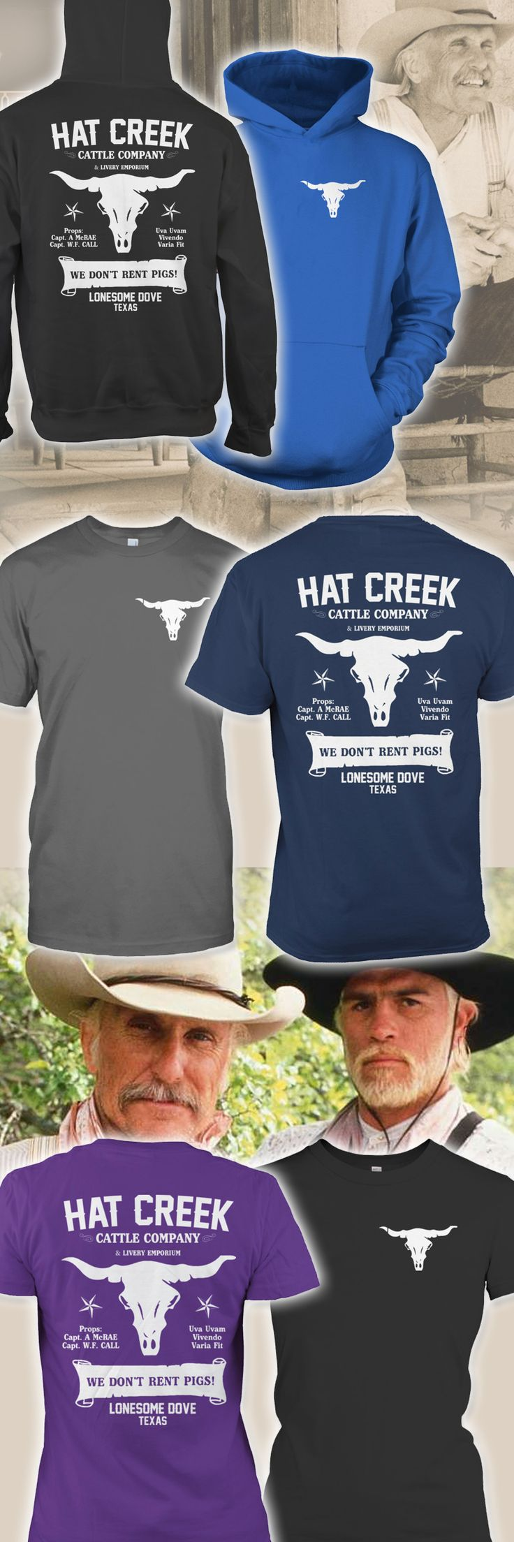 "I LOVE This Lonesome Dove shirt!  - So I bought one from here! :)  ""We Don't Rent Pigs"" :)"
