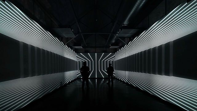 Coca Cola - 125th Year Exhibition by Antilop. For Coca-Cola's 125th Anniversary Exhibition's Future Room concept, Antilop transformed santralistanbul's Galeri 1 into an immersive environment by creating 90 square meter of 270-degree projection system.