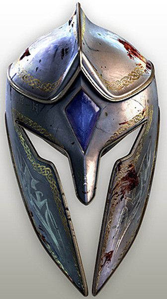 Like this helm, the celtic knotwork is definitely my style