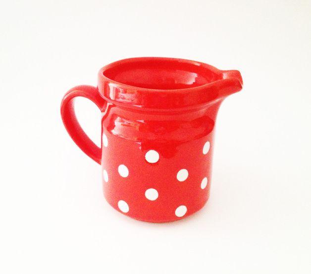 Roter Vintage Krug 10,--