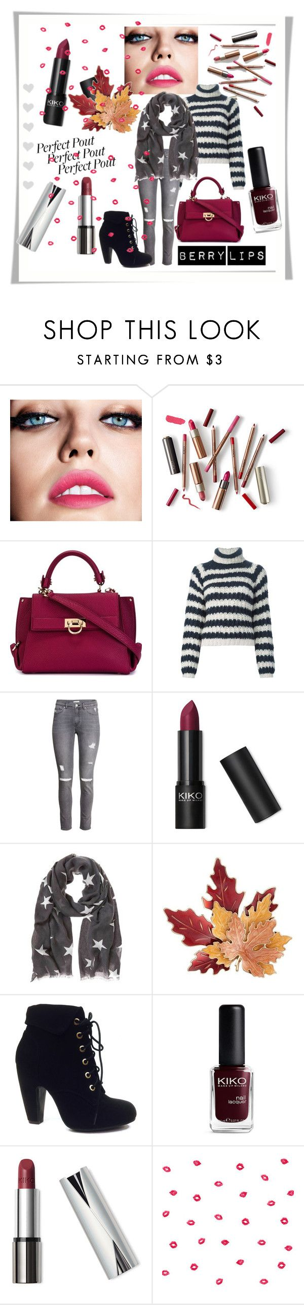 """""""Berry lips"""" by k-ravasio ❤ liked on Polyvore featuring beauty, Maybelline, Salvatore Ferragamo, Chloé, H&M, Rossetto, Croft & Barrow, Bamboo and York Wallcoverings"""
