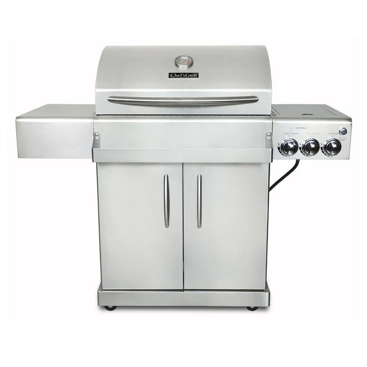 Chef's Grill Infrared Technology 2-Burner Infrared Propane Gas Grill in Stainless Steel (Silver)
