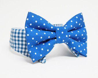 Shirt und Bogen binden Hundehalsband-Floral-Fliege und karierte - Hochzeit Hundehalsband