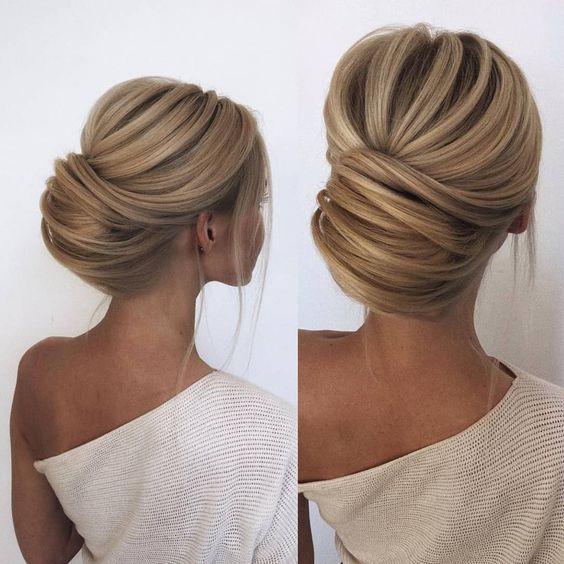 Updo pour la mariée, chignons pour cheveux longs, moyens et courts, mariage …   – Frisuren