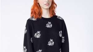 Obey Black White Shepard Rose Sweater | Wildfang - 4