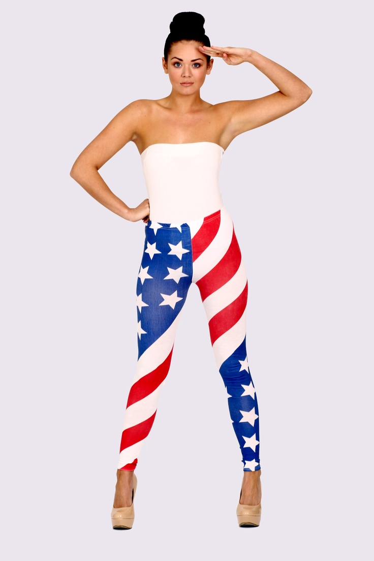 'Alexa' American Flag Leggings