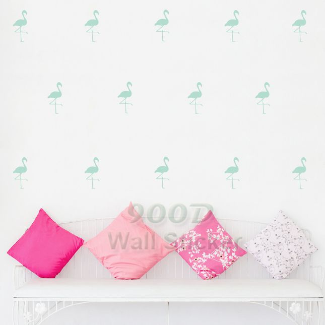Cartoon Flamingo Wall Stickers Wall Decals, Removable Child Room decoration art Wall Decors Free Shipping DQ621-17