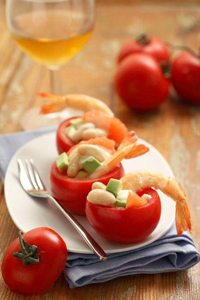 #Insalata degli innamorati || #Cirio, gusta la nostra #ricetta. #recipe #pomodoro #tomato #shrimp #beans #seafood #food #fagioli