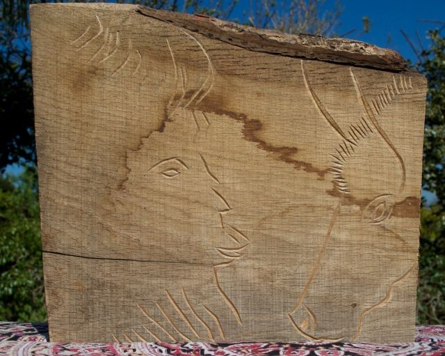 Images about carvings inspired by the stone age and